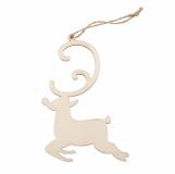 Ozdoba choinkowa Reindeer, beżowy z logo (X91018.13)