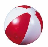 Piłka plażowa czerwona przezroczysta (20086-04)