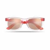 AMERICA TOUCH Lustrzane okulary przeciwsłoneczne z logo (MO8652-05)