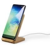Bambusowa ładowarka bezprzewodowa 5W, stojak na telefon (V0359-16)