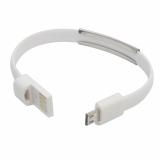 Kabel USB Bracelet, biały z logo (R50189.06)