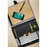 Teczka A4 z filcu Eco-Sense, zielony/szary z logo (R08616.05)