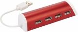 Avenue Aluminiowy 4-portowy hub USB/podstawka na telefon (12372403)