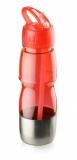 Bidon ze słomką 600 ml czerwony (17627-04)