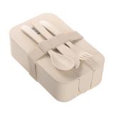 Bambusowe pudełko śniadaniowe 850 ml B'RIGHT, sztućce (V8831-00)