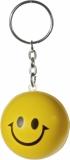 Brelok antystresowy Happy, żółty z nadrukiem (R73996)