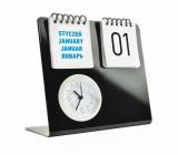Zegar na biurko z kalendarzem (03067)
