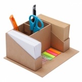 Przybornik biurkowy Eco, beżowy z nadrukiem (R73665.13)