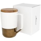 Avenue Kubek ceramiczny Tahoe na kawę i herbatę z pokrywką z drewna (10053701)