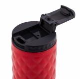 Kubek izotermiczny Dawson 450 ml, czerwony z logo (R08320.08)
