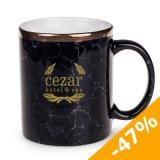 Kubek CEZAR 330 ml czarny marmur / biały (M029_PA_F0330_0000)