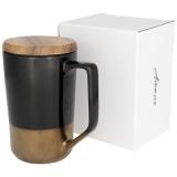 Avenue Kubek ceramiczny Tahoe na kawę i herbatę z pokrywką z drewna (10053700)