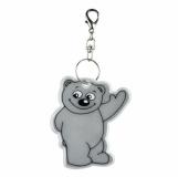 Brelok odblaskowy Beary, srebrny z logo (R73245.01)