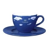 Filiżanka DIANA SET 180 ml reflex blue / biały