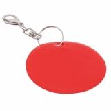 Brelok odblaskowy Reflect, czerwony z logo (R73251.08)