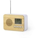 Bambusowy zegar na biurko z alarmem, radio (V0367-16)