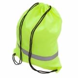 Plecak promocyjny z taśmą odblaskową, żółty z nadrukiem (R08696.03)