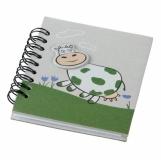 Notes Funny Cow, zielony/szary z nadrukiem (R73822)