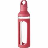 Szklana butelka 590 ml, silikonowy uchwyt (V9874-05)