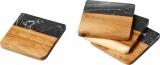 Avenue Marmurowe i drewniane podkładki Harlow (11299800)