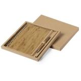 Bambusowy notatnik ok. A5, długopis (V0207-16)