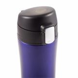 Kubek termiczny Secure 400 ml, niebieski z logo (R08424.04)
