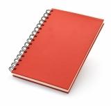 Notes A5, 100 kartek na kole czerwony (17592-04)