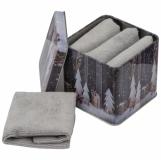 Zestaw 4 ręczników w pudełku z logo (7118907)
