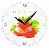 Zegar ścienny, biały z logo (ZEGAR-5)