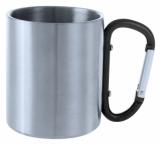 Metalowy kubek 200 ml z karabińczykiem (V8437-03)