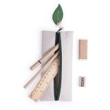 Zestaw szkolny, piórnik, ołówek, długopis, linijka, gumka i temperówka (V7365/A-20)