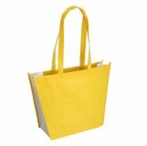 Torba eko na zakupy i plażę, żółty z nadrukiem (R08451.03)