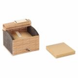 CORTINA BLOCK Zestaw 500 kartek z bambusa z logo (MO9571-40)