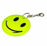 Brelok odblaskowy Happy, żółty z logo (R73246P.03)