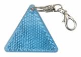 Brelok odblaskowy Safe, niebieski/biały z logo (R73236.04)