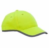 Odblaskowa czapka dziecięca Sportif, żółty z logo (R08717.03)