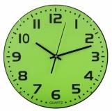 Zegar ścienny Rotundo, zielony z logo (R64395.05)