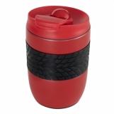 Kubek izotermiczny Offroader 200 ml, czerwony z logo (R08317.08)