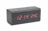 Zegar na biurko z ładowarką indukcyjną CORNELL czarny (03087-02)