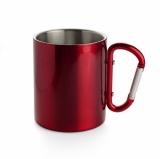 Kubek z karabińczykiem CAMP 280 ml czerwony (17667-04)