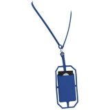 Silikonowy uchwyt RFID ze smyczą na karty kredytowe (13425801)