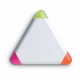 TRIANGULO Trójkątny zakreślacz, 3 kolory z nadrukiem (MO7818-06)