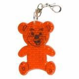 Brelok odblaskowy Teddy, pomarańczowy z nadrukiem (R73235.15)