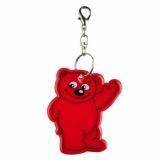 Brelok odblaskowy Beary, czerwony z logo (R73245.08)