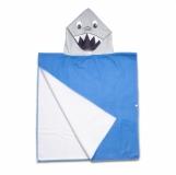 Ponczo-ręcznik z kapturem Sharky, niebieski  (R07977.04)