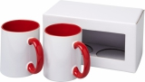 2-częściowy zestaw upominkowy Ceramic składający się z kubków z nadrukiem sublimacyjnym (10062603)