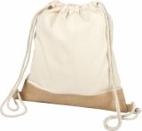 Bawełniano-jutowy plecak Delhi ze sznurkiem ściągającym (12046900)