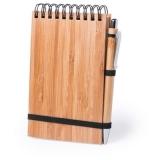 Bambusowy notatnik A6, długopis (V2966-16)