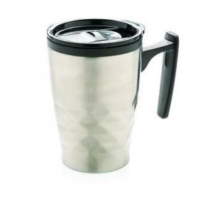 Geometryczny kubek podróżny, do kawy 380 ml (P432.042)