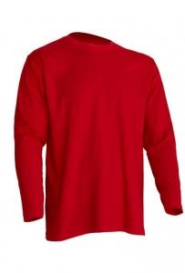 T-shirt Męski z długim rękawem RED (TSRA 150 LS RD)